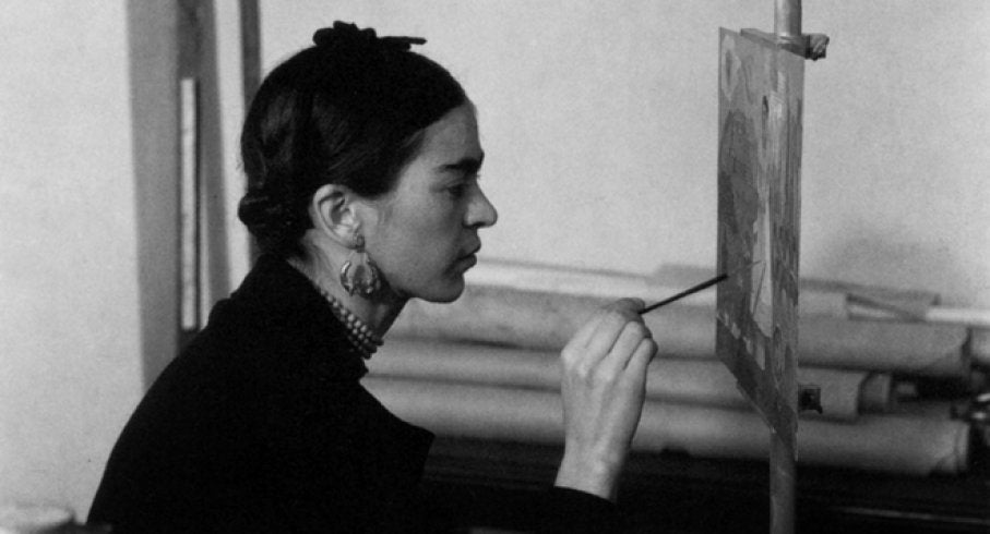 Frida-kahlo-painting-vintage-picture