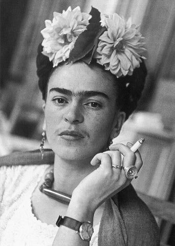 Frida kahlo black n white old photograph