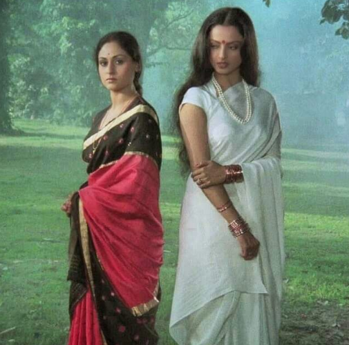 Jaya and Rekha in saree