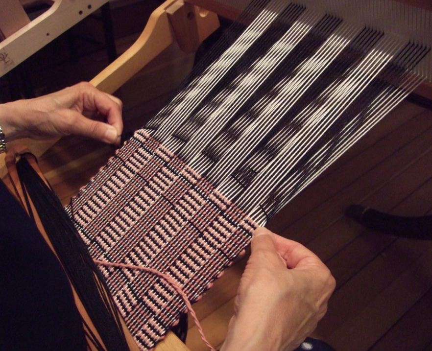 hand weaving Process Image
