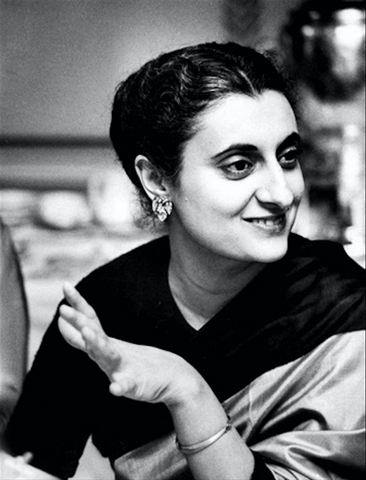 young age photo of Indira Gandhi
