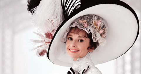 Audrey with a beautiful hat