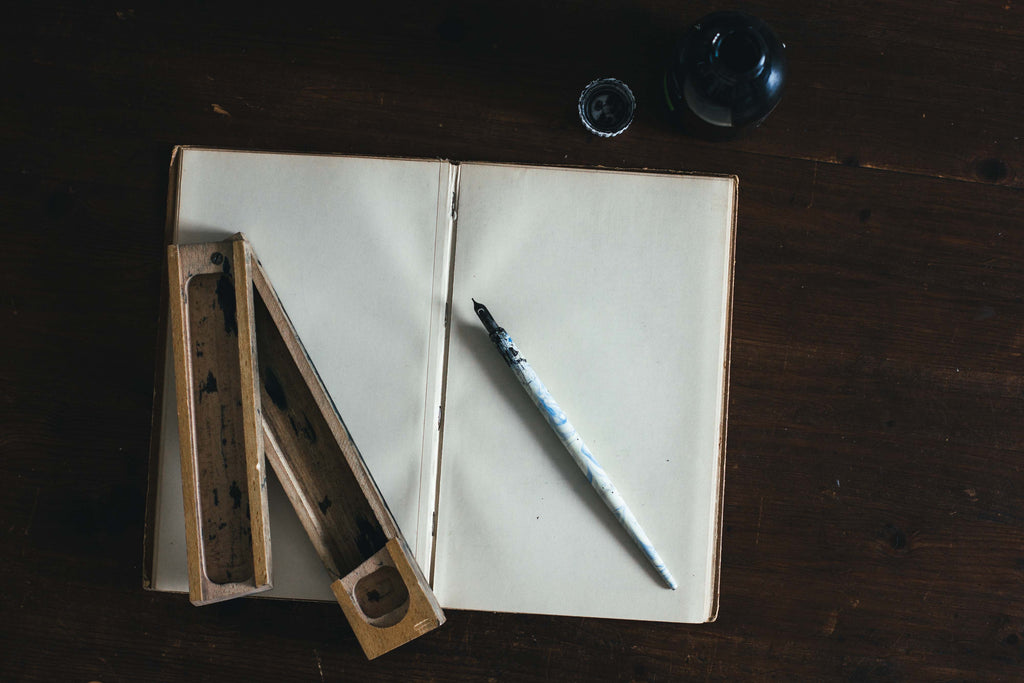 Vintage handmade sketchbook with handmade sheets