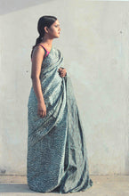 Load image into Gallery viewer, Radha | Tussar silk saree designed with handblock printing