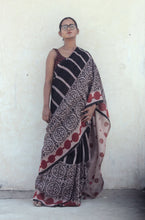 Load image into Gallery viewer, Renée | Black mulberry silk saree