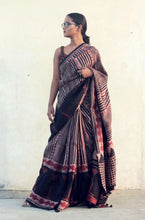 Load image into Gallery viewer, Rachelle | Dark brown pure silk saree with natural dye
