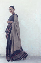 Load image into Gallery viewer, Rosamonde | Mulberry silk saree with Ajrakh print