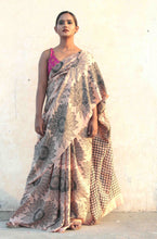 Load image into Gallery viewer, saree model standing in latest designer silk saree | saree images