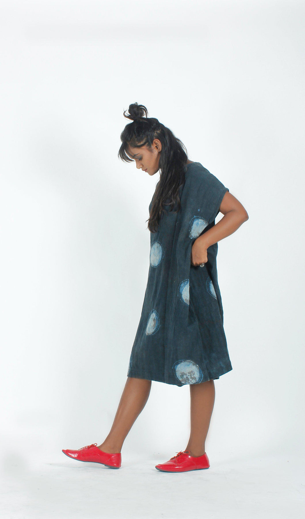 Indigo Moons shift dress-Resha.in