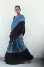 Load image into Gallery viewer, Vivienne | Linen saree with natural indigo