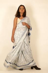Skylar | Pure silk saree with floral print