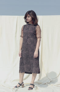 Emma's Dress | Daabu printed on hand-spun organic khadi cotton-Resha.in