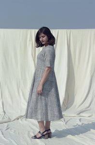 Mia's Dress | Organic khadi cotton dress-Resha.in