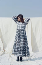 Load image into Gallery viewer, Charlotte's Dress | Block printed in buttery chiffon-Resha.in