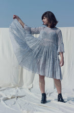 Load image into Gallery viewer, Aya's Dress | Block printed on buttery chiffon twirl dress-Resha.in