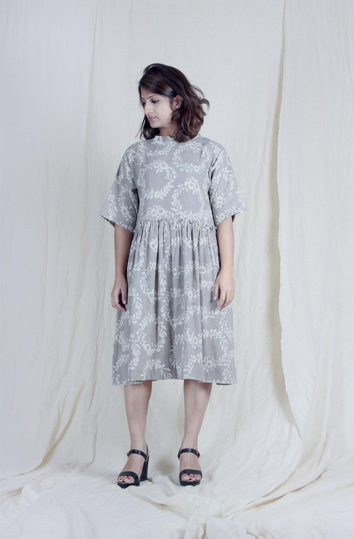 Easy Day | Organic hand-spun khadi dress-Resha.in