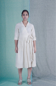 Detox | Organic khadi cotton wrap dress-Resha.in