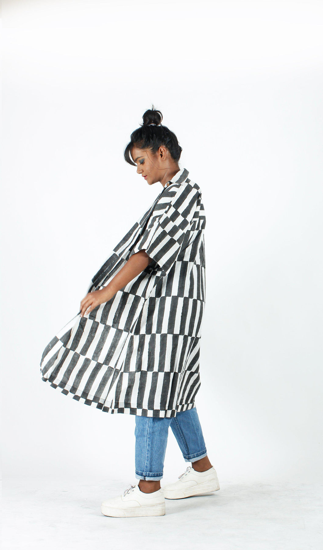 Stripey Long Shirt-Resha.in