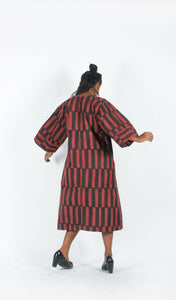 Red Black Checks Dress / Jacket-Resha.in