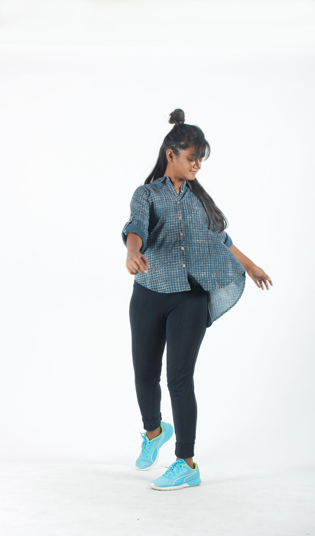 Indigo Checks easy-breezy Shirt-Resha.in