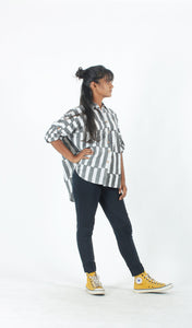 Stripes Block Printed Shirt-Resha.in