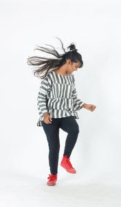 White Striped Cotton Top-Resha.in