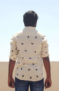 Cotton shirts for men with block printing back view