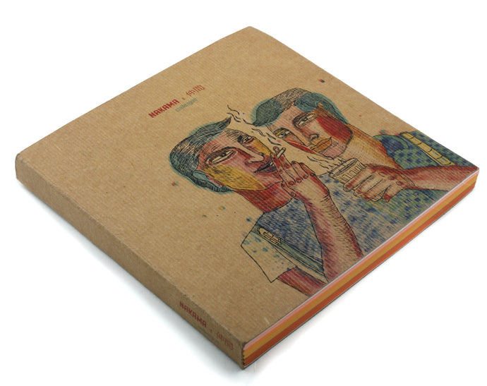 Colleague | Nakama Notebook with Illustrated cover and coloured papers-Resha.in