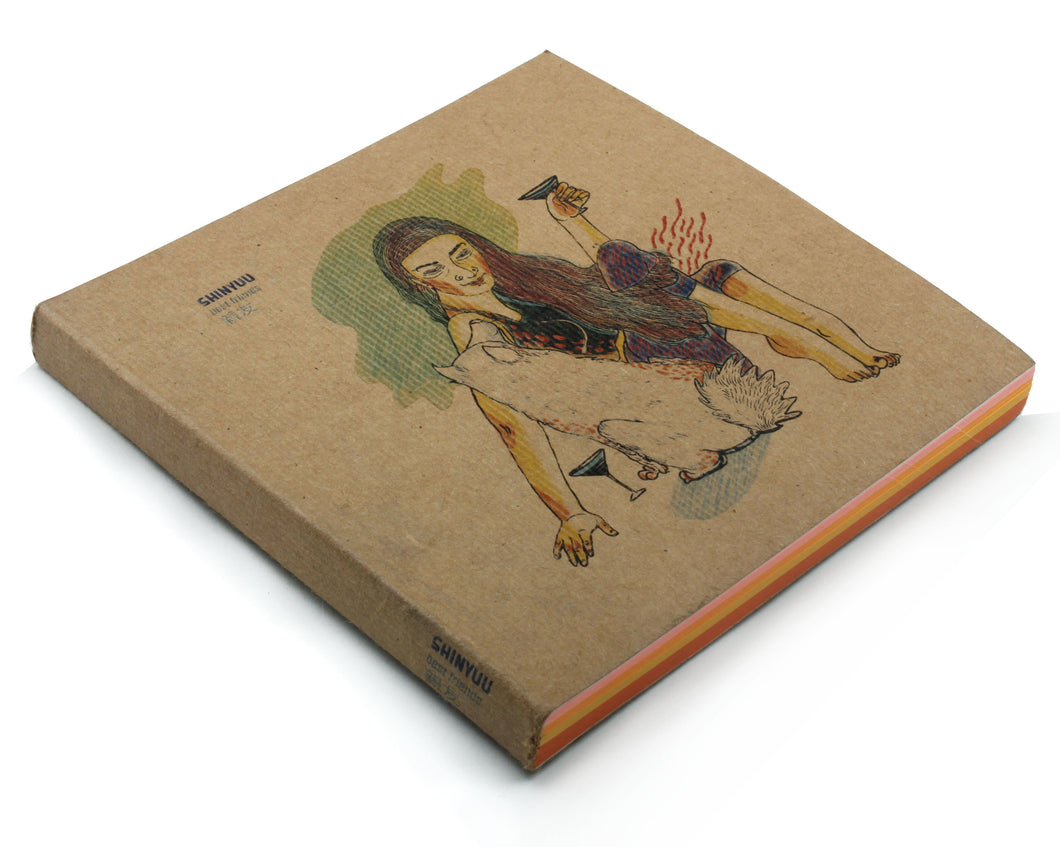 Support | Mikata Notebook with Illustrated cover and coloured papers-Resha.in
