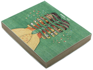 Best Friends | Shinyuu Notebook with Illustrated cover and off-white Jute papers-Resha.in