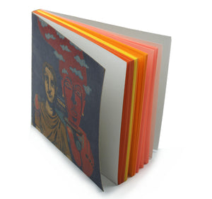 Tsukai | Companion Notebook with Illustrated cover and coloured papers-Resha.in