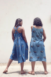 Blanche's Dress | Organic cotton dress with block print