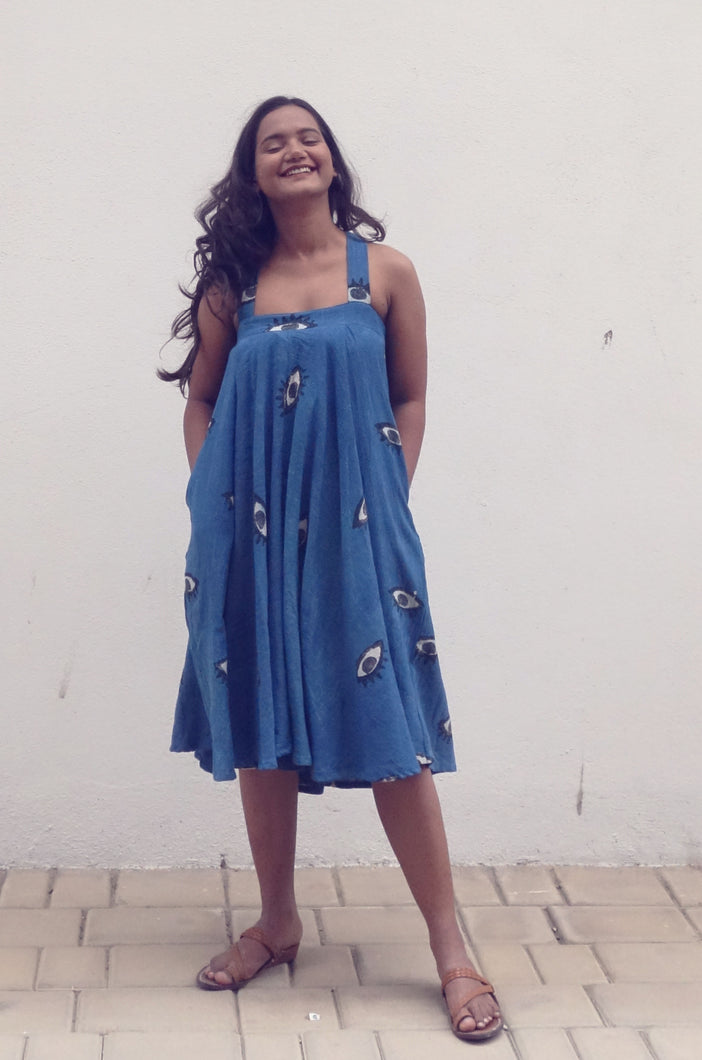 Lina's Dress | Organic cotton dress with block print