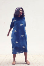 Load image into Gallery viewer, Lea's Dress | Organic cotton dress with natural indigo