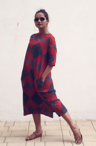 Isha's dress | Block printed on kala cotton