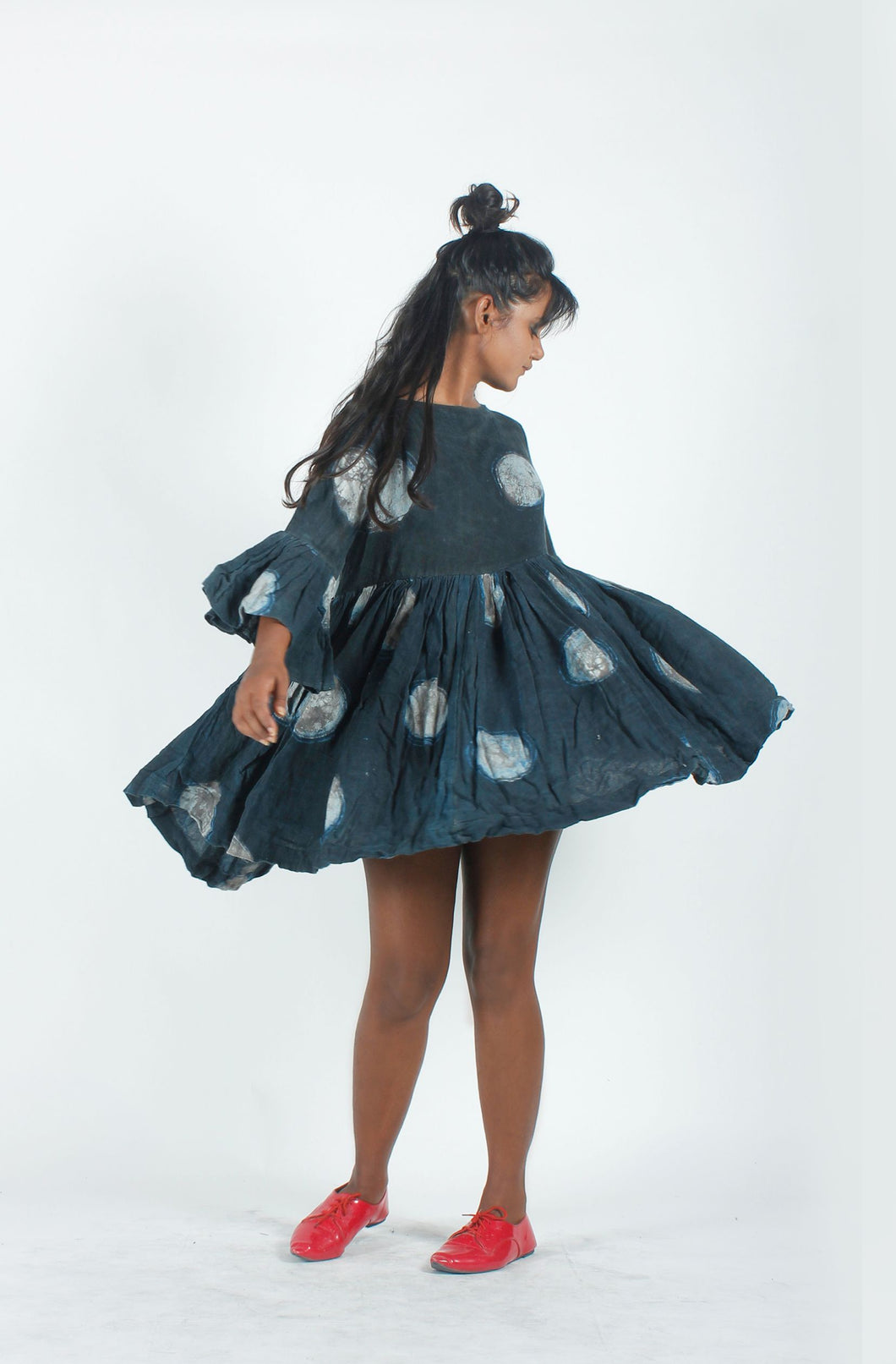 Dark Blue Circle Dress