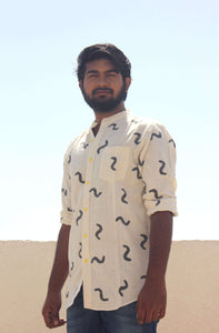 cotton shirt for men with block printing