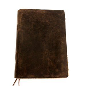 Premium Leather Journal | Brown Antique Handmade Diary with deckle edge Vintage Paper