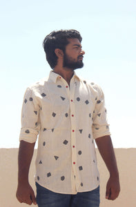 Front view of Casual cotton shirt for men by Resha