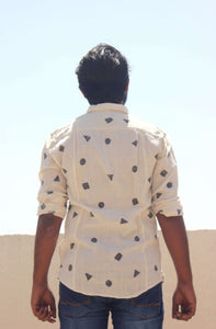 Casual Organic Cotton shirts for men by Resha Back view
