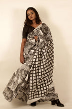 Load image into Gallery viewer, Meline | Floral printed pure silk saree with natural dye