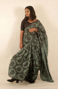 Luna | Mulberry silk saree with floral print