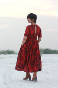 Audrina's Dress | Block printed Organic khadi dress