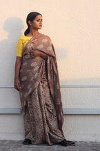Load image into Gallery viewer, Adele | Dabu printed pure silk saree using natural dyes