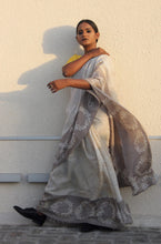 Load image into Gallery viewer, Adrianna | Pure silk saree designed with love and care