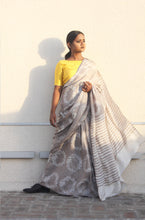 Load image into Gallery viewer, Amelie | Pure silk saree with dabu print