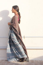 Load image into Gallery viewer, Bella | Mulberry silk saree with dabu print using natural dyes