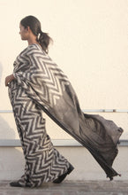 Load image into Gallery viewer, Adalene | Pure silk saree dabu printed with natural dyes-Saree-Resha.in-RESHA