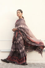 Load image into Gallery viewer, Celeste | Dabu printed pure silk saree