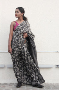 Ella | Pure silk saree with floral print
